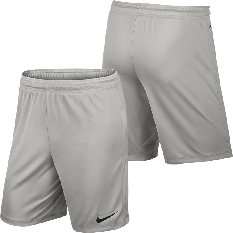 Nike Park II Knit Senior Football Shorts Pewter Grey