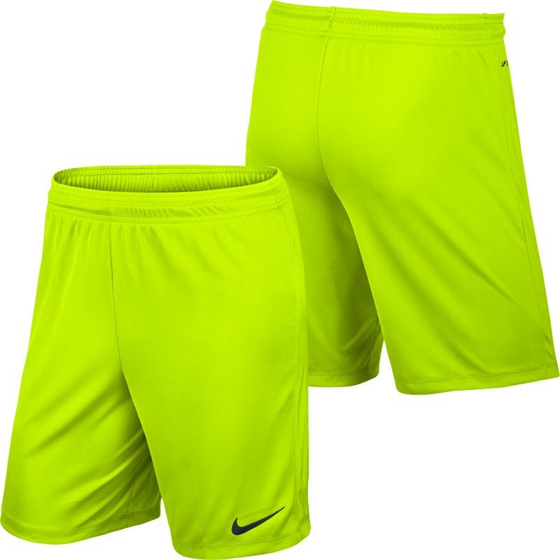 Nike Park II Knit Senior Football Shorts Volt Yellow