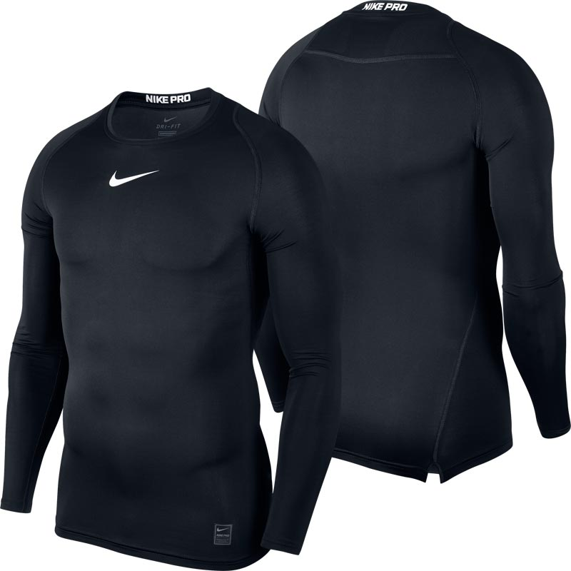 Nike Pro Compression Crew Senior Long Sleeve Top Black