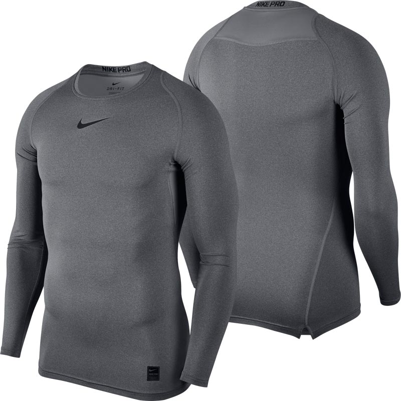 4068fe999 Nike Pro Compression Crew Senior Long Sleeve Top Carbon Heather. Tap to  expand
