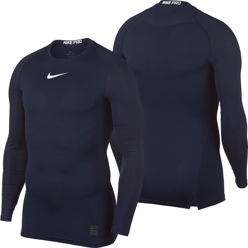 4eaeee3f Nike Pro Compression Crew Senior Long Sleeve Top Obsidian. Tap to expand