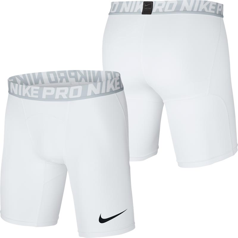 "Nike Pro Compression Base Layer 6"" Short Senior White"