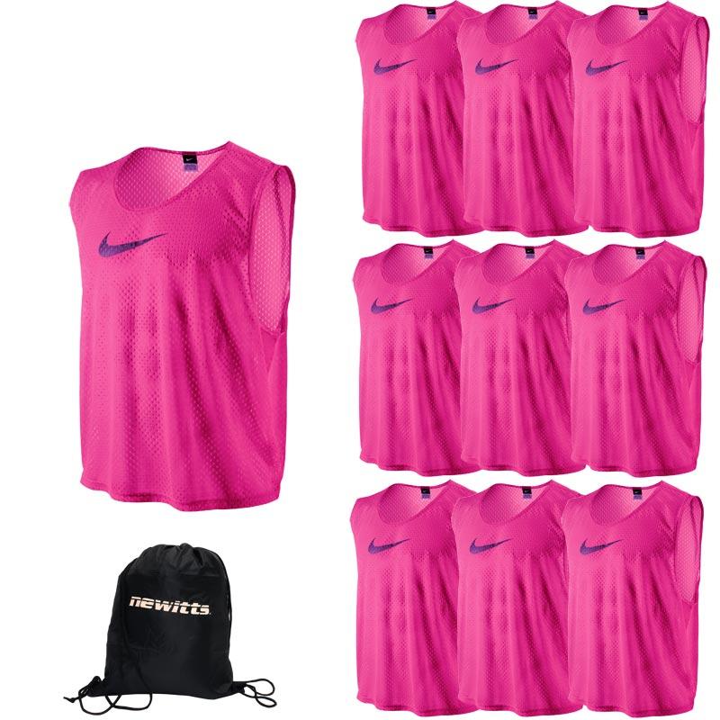 Nike Sports Training Bib Vivid Pink 10 Pack