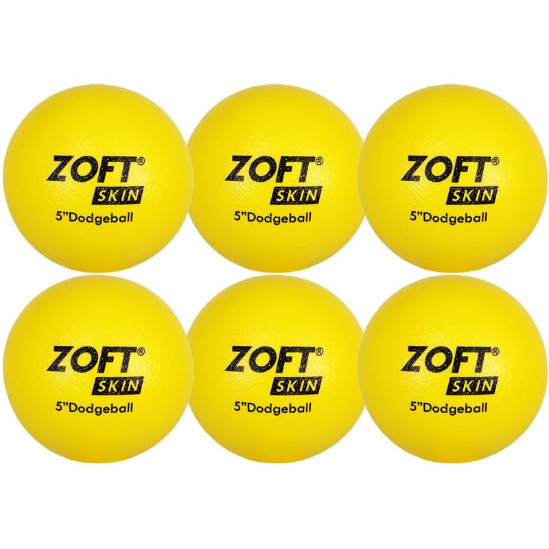 Zoftskin Dodgeball 5 Inch 6 Pack