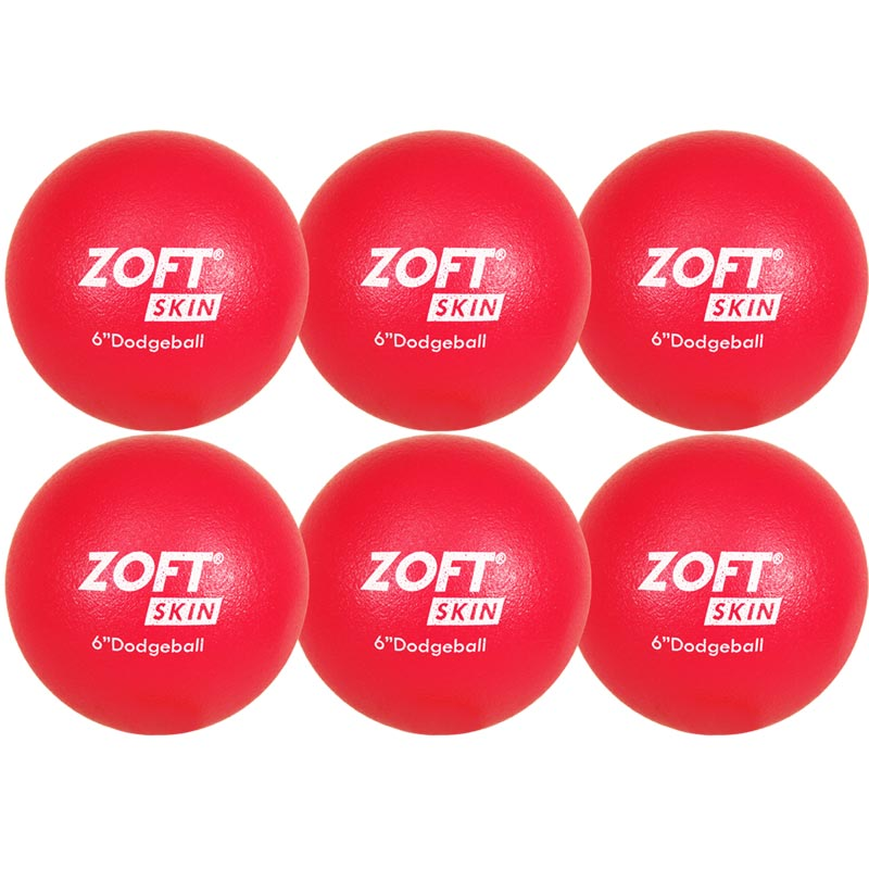 Zoftskin Dodgeball 6 Inch 6 Pack