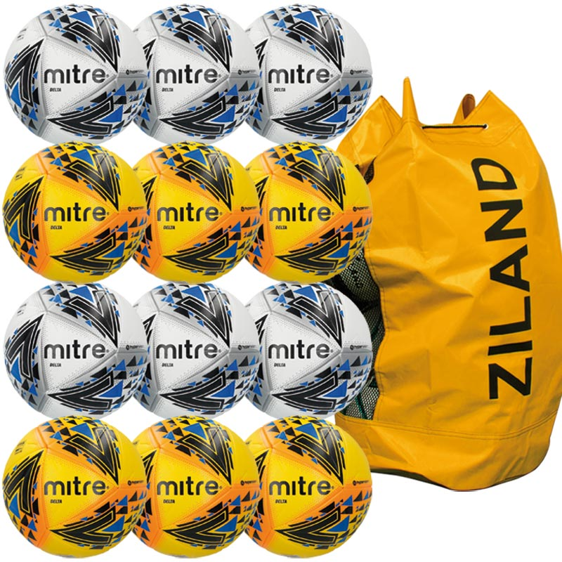 Mitre Delta Pro Match Football Assorted 12 Pack
