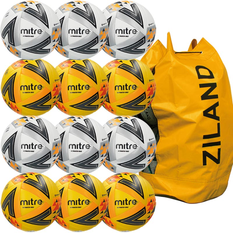 Mitre Ultimatch Max Match Football Assorted 12 Pack