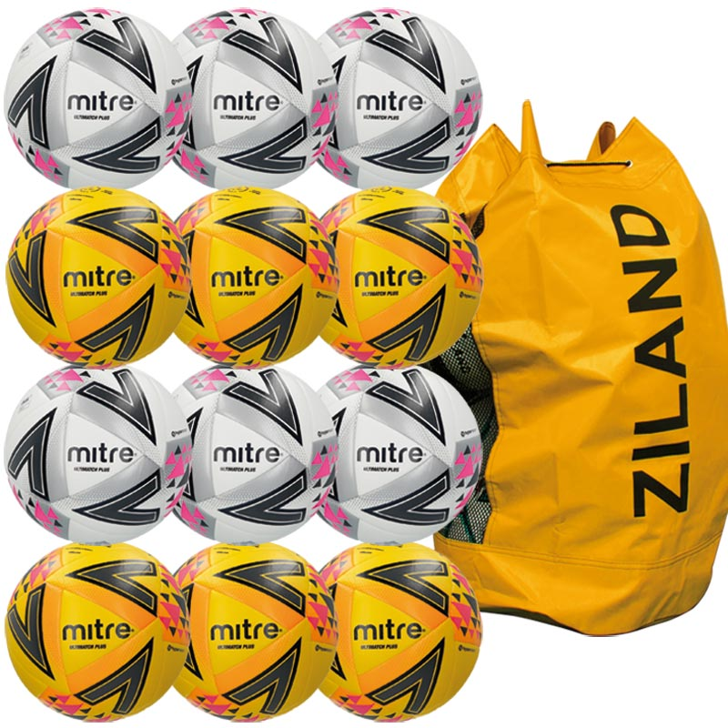 Mitre Ultimatch Plus Match Football Assorted 12 Pack