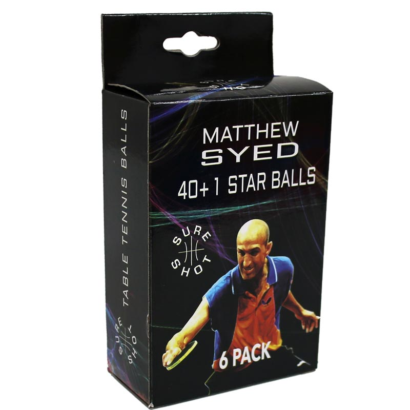 Sure Shot Matthew Syed 1 Star Table Tennis Balls