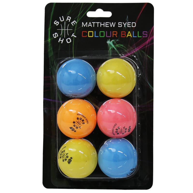 Sure Shot Matthew Syed Coloured Table Tennis Balls