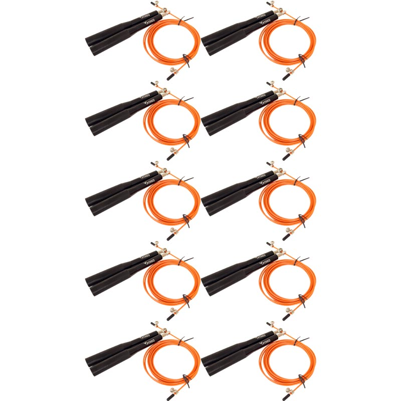ATREQ Elite Speed Cable Skipping Rope 10 Pack