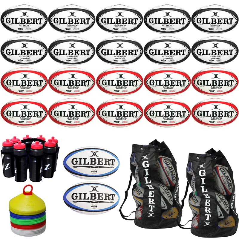 Gilbert Rugby Ball Equipment Pack