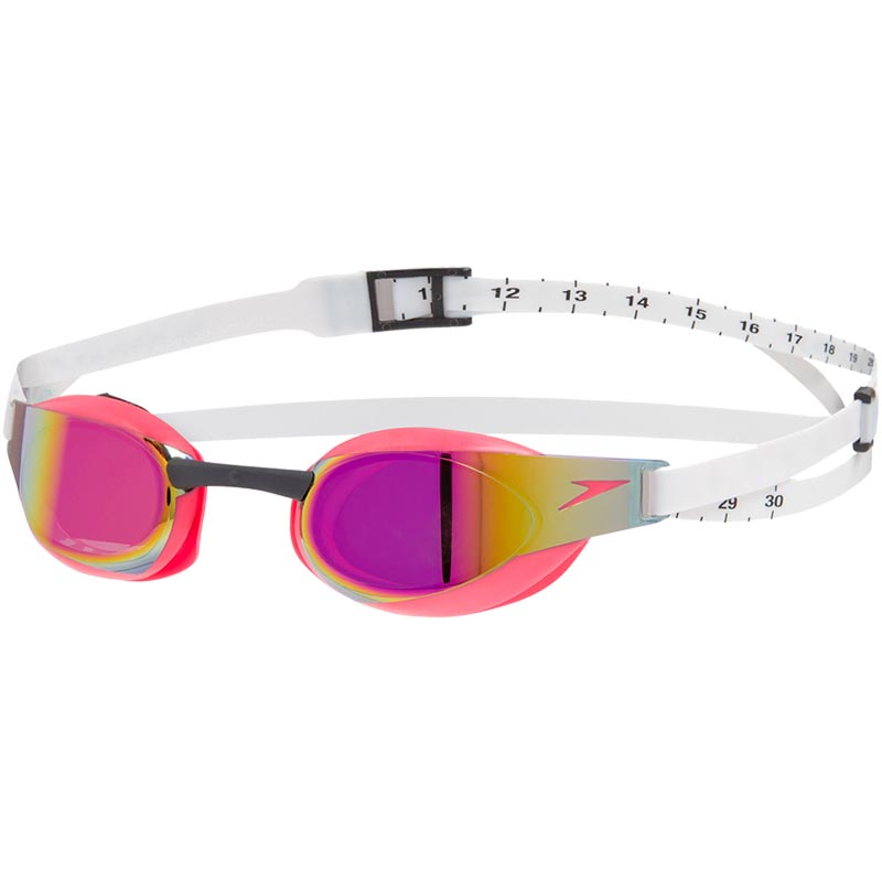 Speedo Fastskin Elite Mirror Swimming Goggle White/Psycho Red/Red