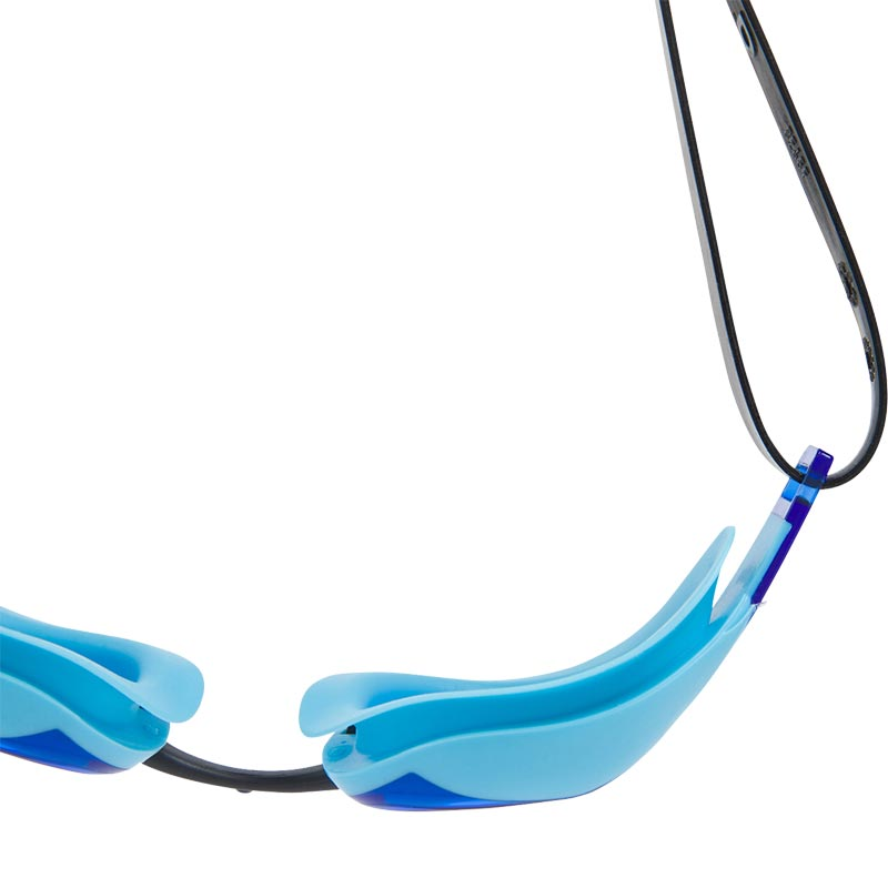 Speedo Fastskin Elite Swimming Goggles Black/Aqua Splash/Blue