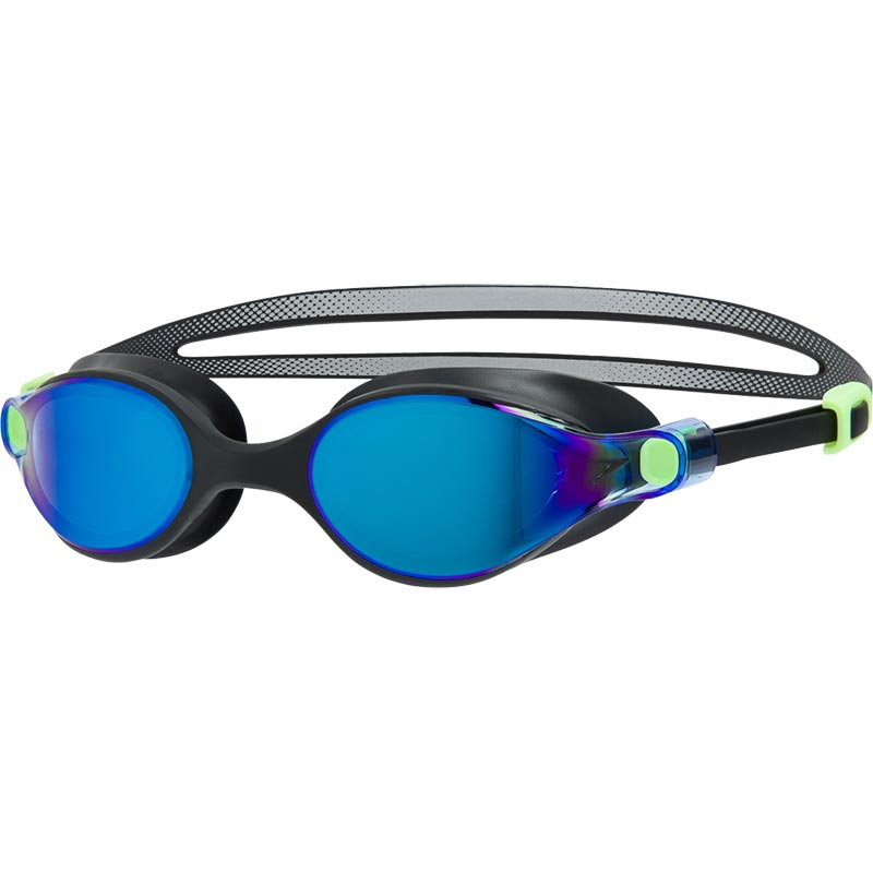 Speedo V-Class Virtue Mirror Female Swimming Goggles Bright Zest/Black/Blue