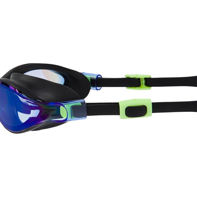 Speedo V-Class Virtue Mirror Female Swimming Goggles Bright Zest/Black/Blue