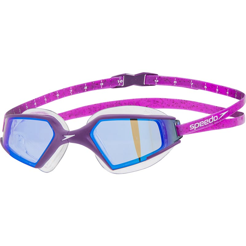 Speedo Aquapulse Max 2 Mirror Swimming Goggles Bramble/Black/Purple