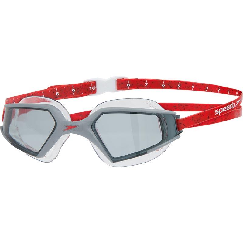 Speedo Aquapulse Max 2 Swimming Goggle Black/Lava Red/Smoke
