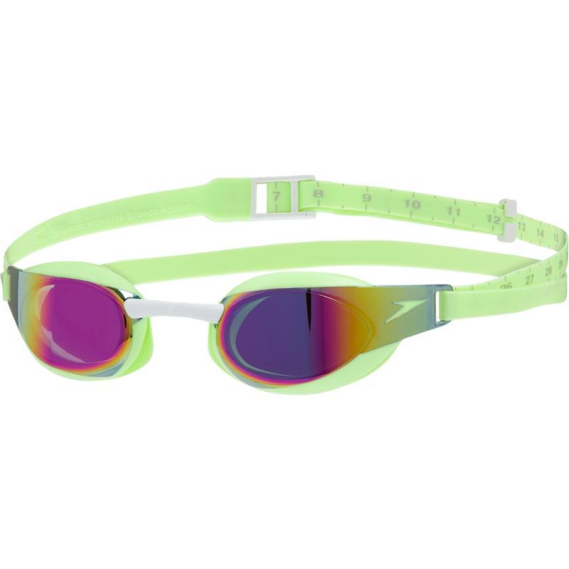 Speedo Junior Fastskin Elite Mirror Goggles Bright Zest/White/Red