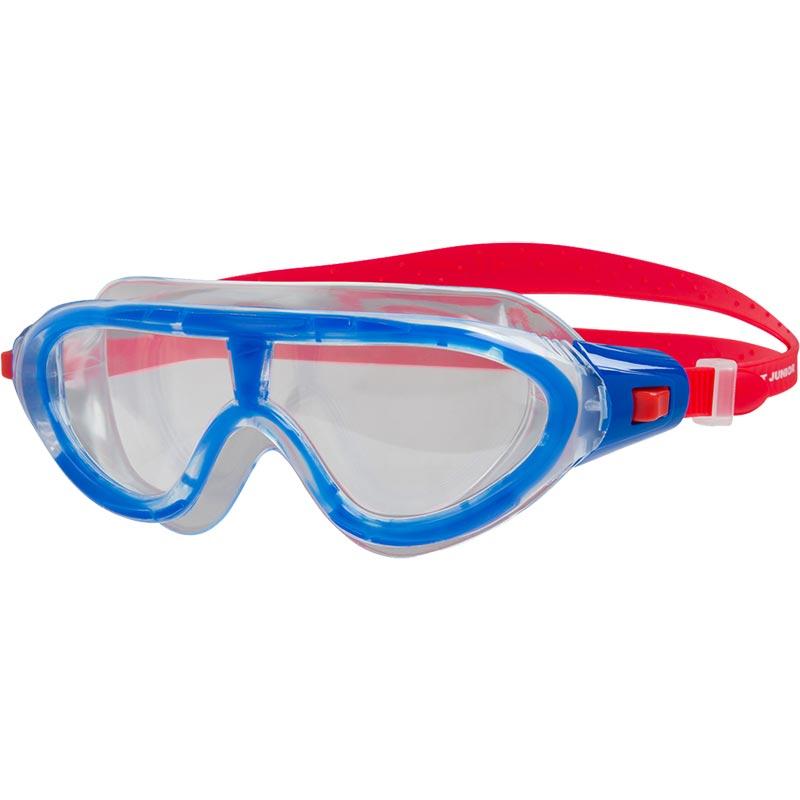 Speedo Junior Rift Swimming Mask Lava Red/Blue/Clear