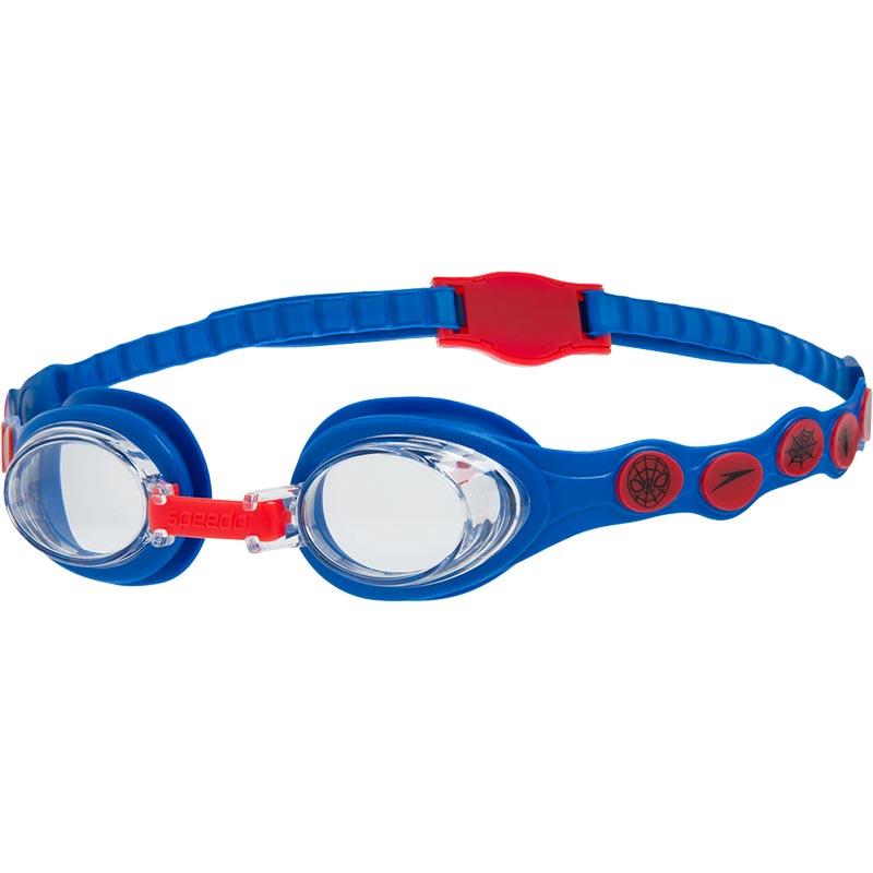 Speedo Disney Spot Spiderman Swimming Goggles Neon Blue/Lava Red/Clear