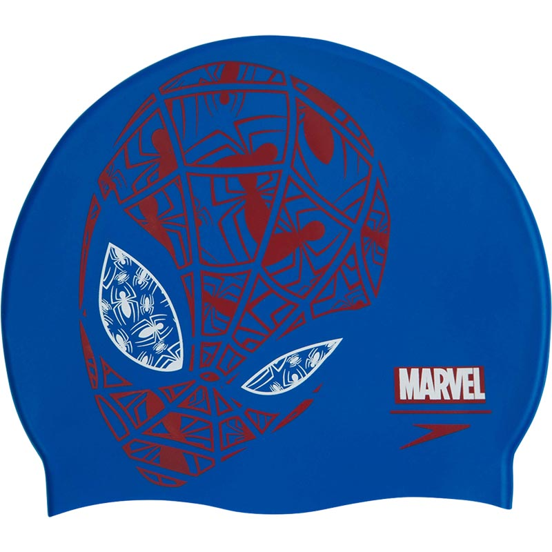 Speedo Junior Marvel Spiderman Slogan Swimming Cap