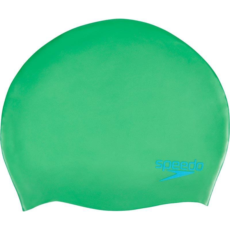 Speedo Junior Silicone Swimming Cap Fake Green/Windsor Blue