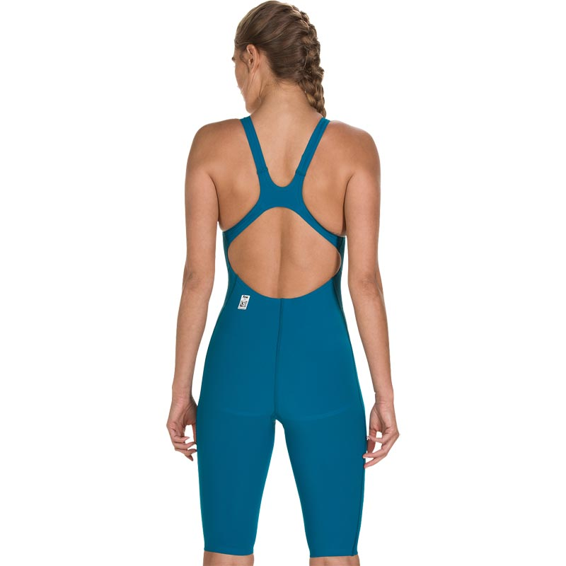 Speedo LZR Racer Element Openback Kneeskin Nordic Teal