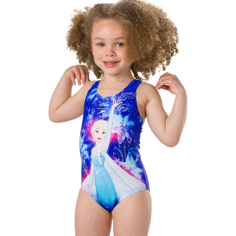 Speedo Disney Frozen Swimsuit Blue/Turquoise/Pink Splash