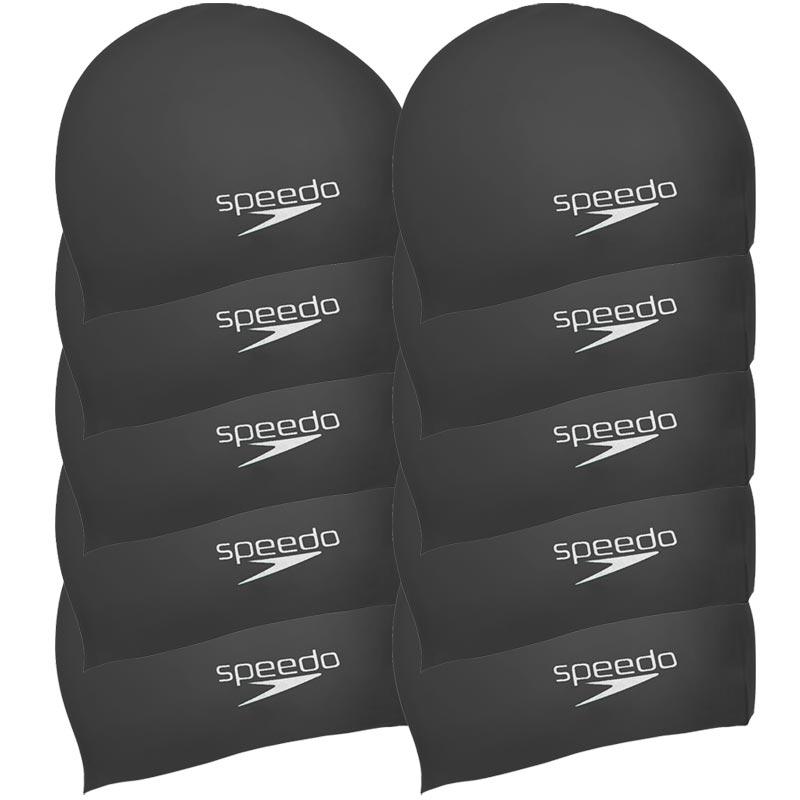 Speedo Senior Silicone Swimming Cap Pack 10 Black