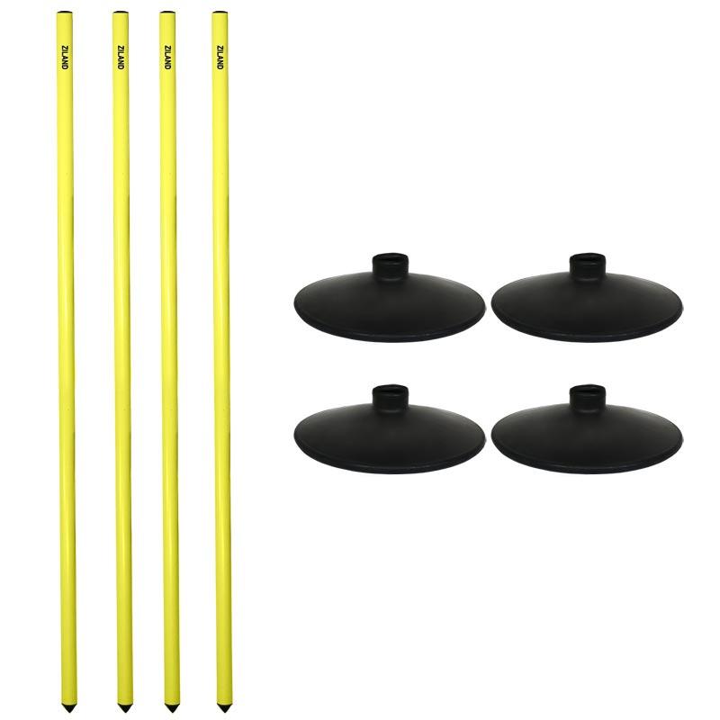 Ziland Plastic Rounders Post Set of 4 Hi Vis Yellow
