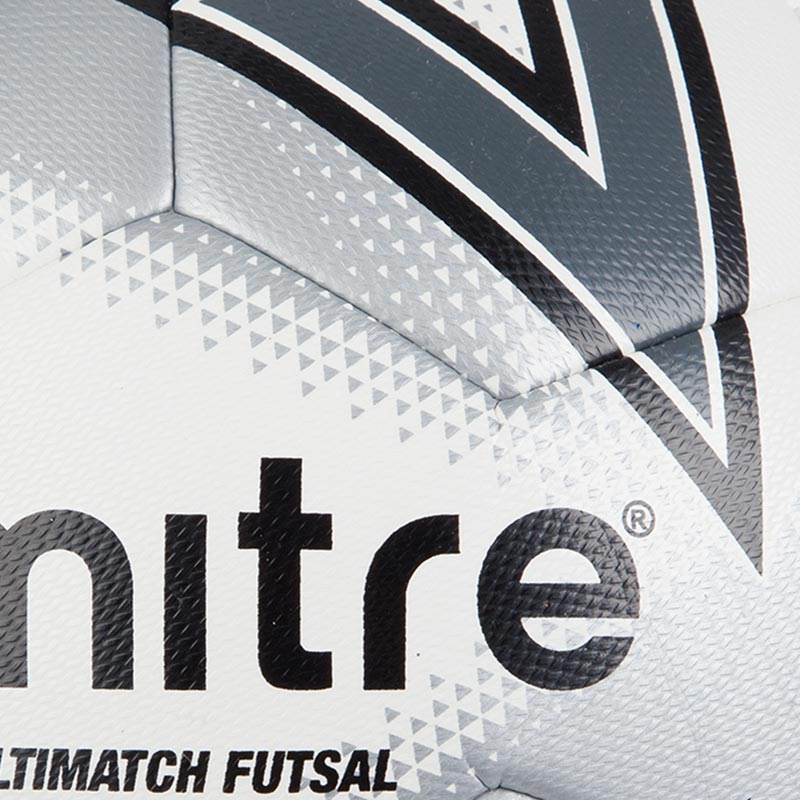 Mitre Ultimatch Futsal Football White/Red/Black