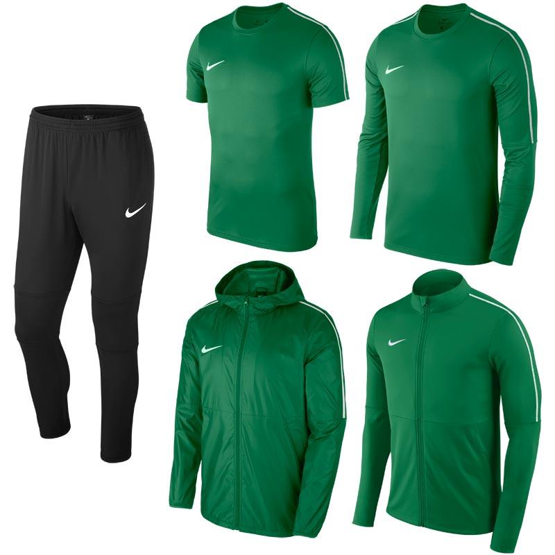 Nike Park 18 Bulk Pack Pine Green/Black