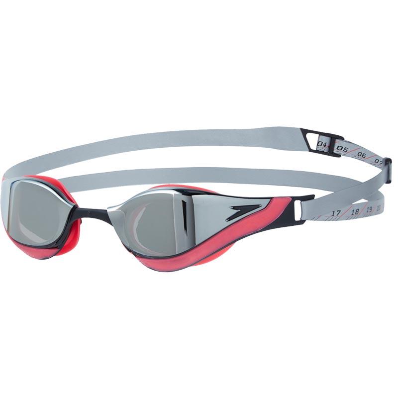 Speedo Fastskin Pure Focus Mirror Goggles Psycho Red/Black/Chrome