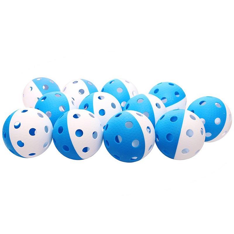 Eurohoc Floorball Precision Ball Blue/White 12 Pack