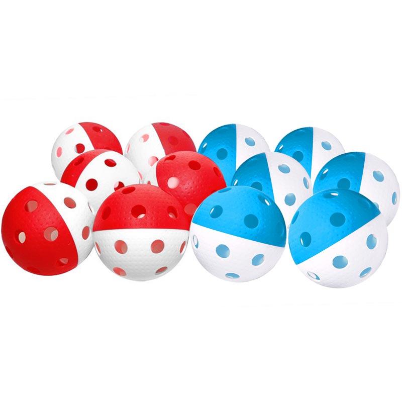 Eurohoc Floorball Precision Ball Assorted 12 Pack
