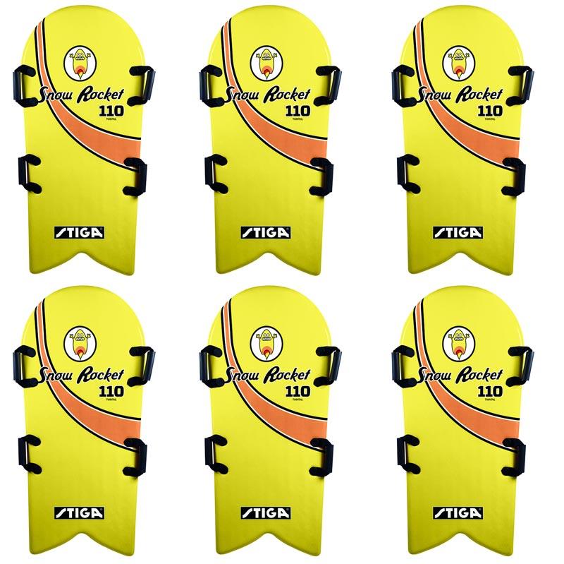 Stiga Snowrocket 110 Twintail Snowboard 6 Pack