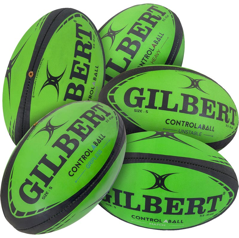 Gilbert Control-A-Ball Training Rugby Ball Pack