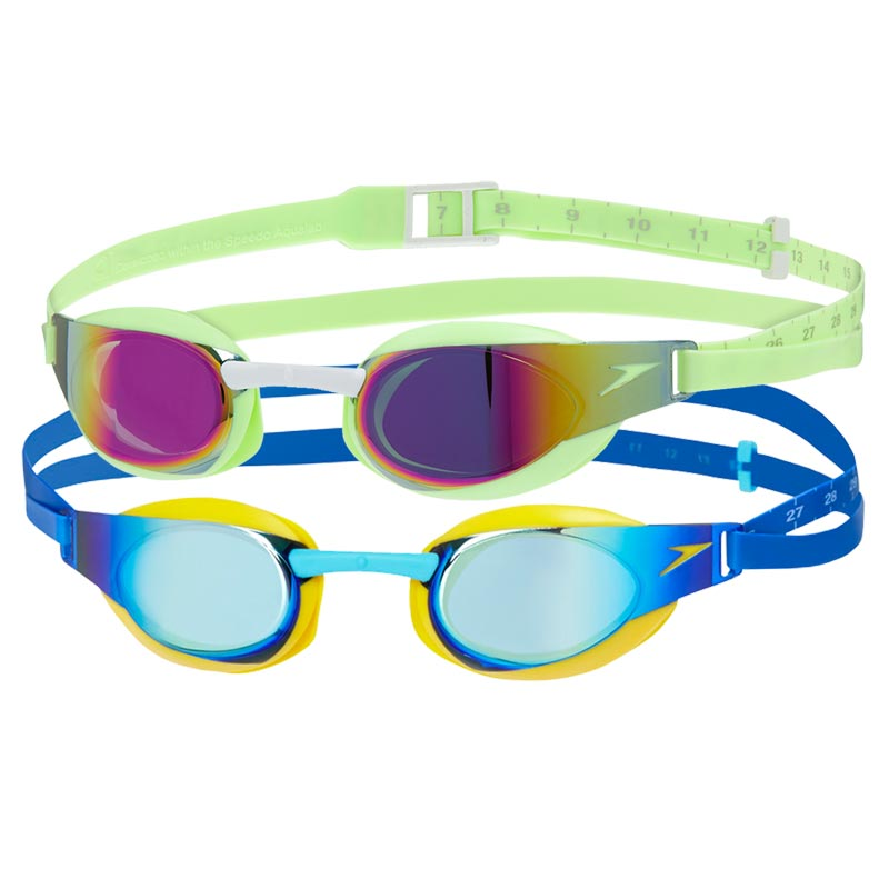 Speedo Junior Fastskin Elite Mirror Goggles - Pack of 2