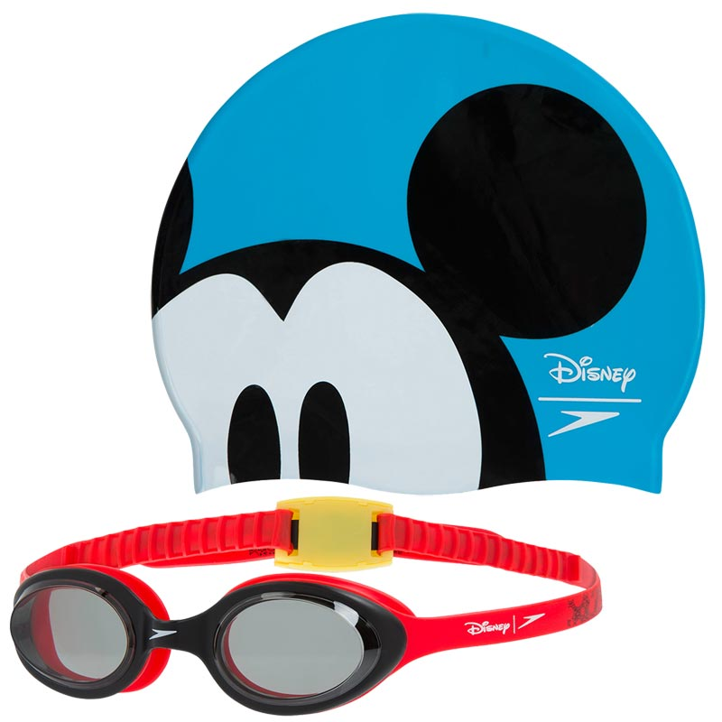 0b5f8224510 Speedo Swimming Mickey Mouse Cap and Goggles Set. Tap to expand