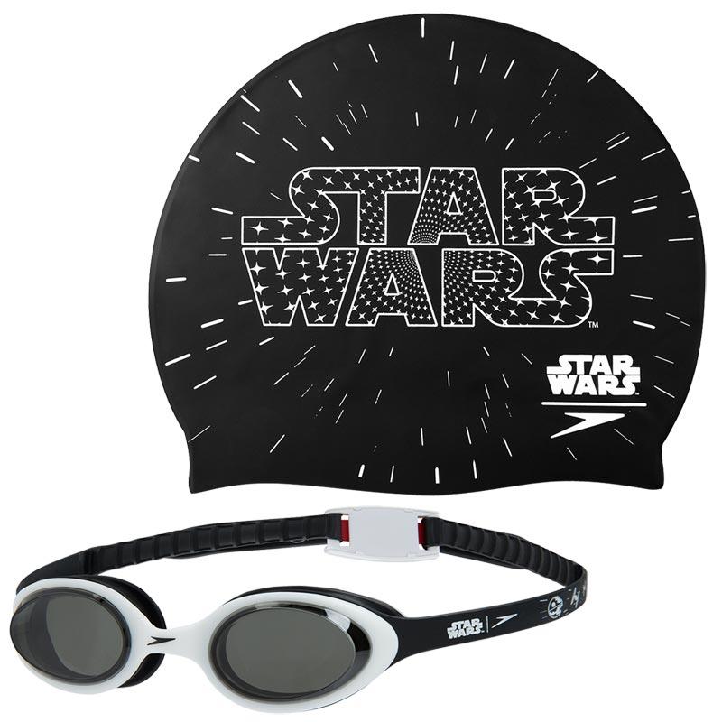 Speedo Swimming Star Wars Cap and Goggles Set