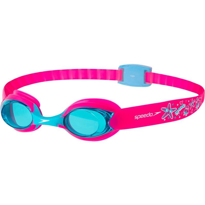 Speedo Sea Squad Illusion Swimming Goggles Vegas Pink/Bali Blue