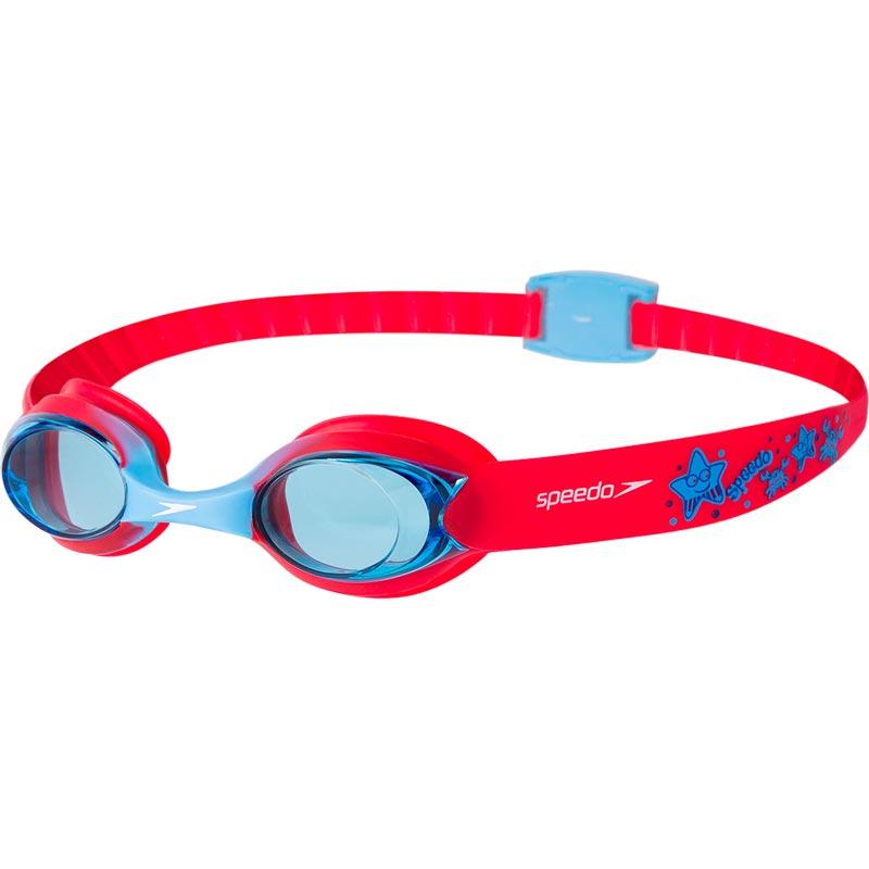 Speedo Sea Squad Illusion Swimming Goggles Lava Red/Japan Blue