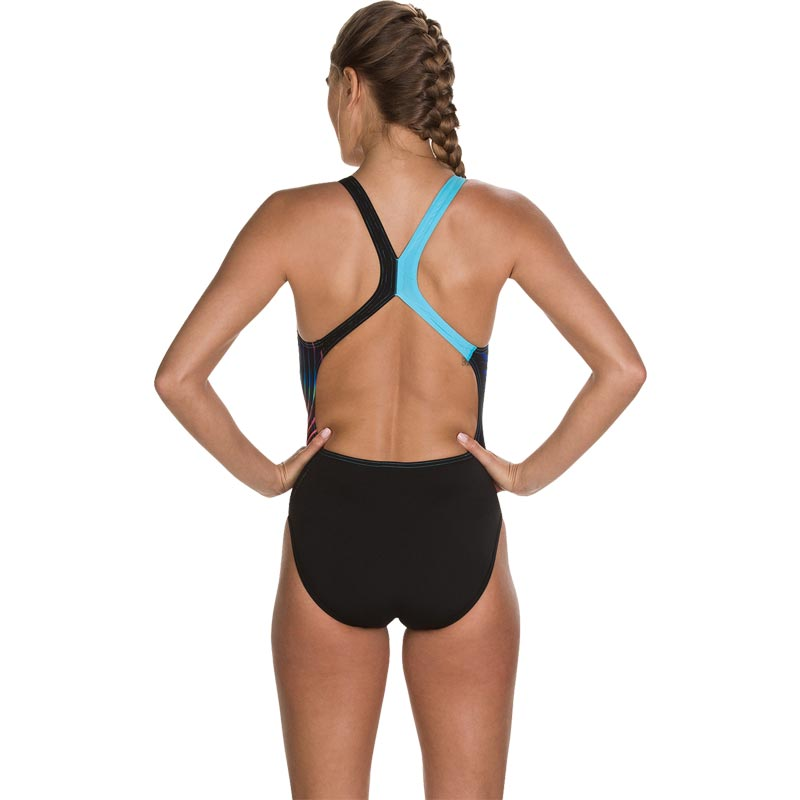 Speedo Lightswirl Placement Powerback Swimsuit