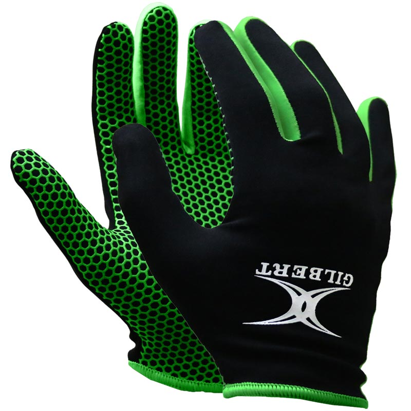 Gilbert Atomic Training Netball Gloves Black/Green