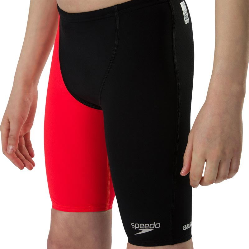 Speedo Boys Fastskin Endurance Plus Jammer Black/Lava Red