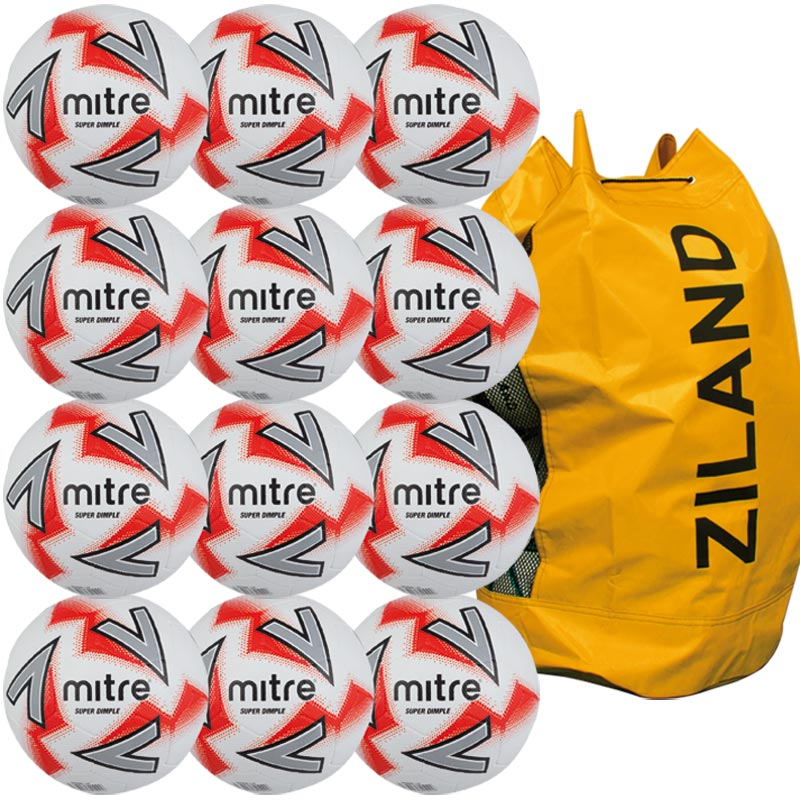 Mitre Super Dimple Football 12 Pack