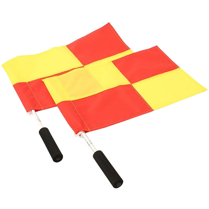 Harrod Sport Linesmans Chequered Flag and Stick Set