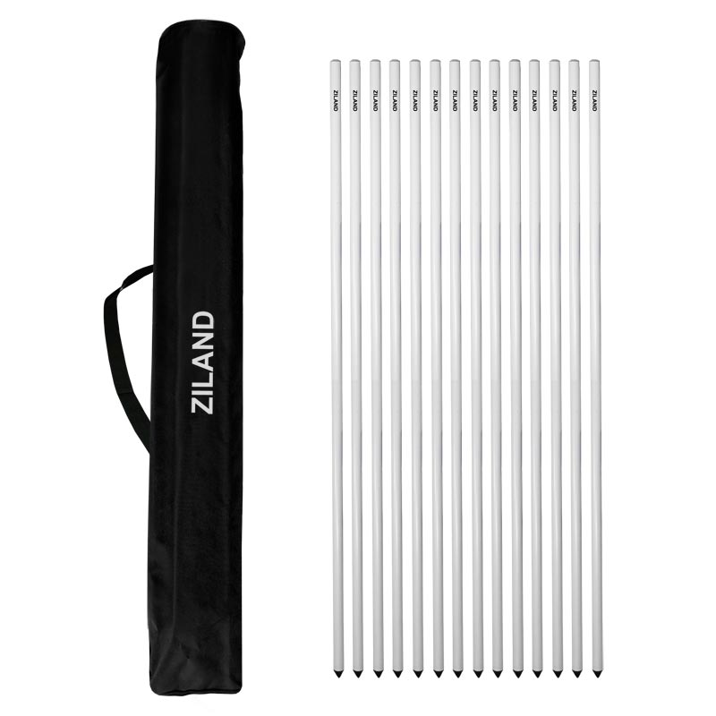 Ziland Flexible Corner Poles Set of 14 with Bag White