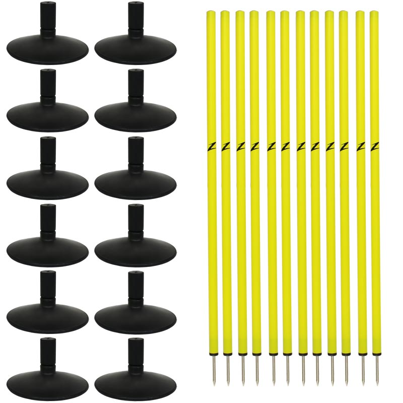Ziland Slalom Pole and Heavy Rubber Base Set